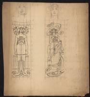 Art nouveau female figures (2)