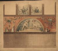 Gold Leaf Beer and Wine Mural, Classical